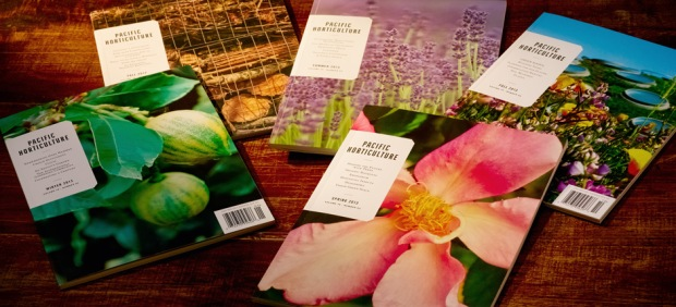 Image of Pacific Horticulture magazine covers art directed by Rosenkranz Productions